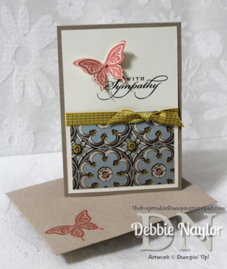 Unfrogettable Stamping | QE Soho Subway sympathy card video tutorial 2013-07-03