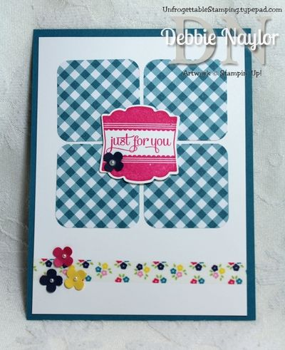 Unfrogettable Stamping | Julia Miller June 2013 swap card A