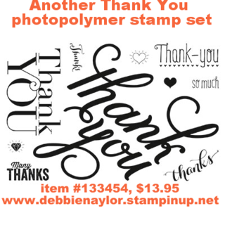 Unfrogettable Stamping | Stampin' Up! Another Thank You photopolymer set