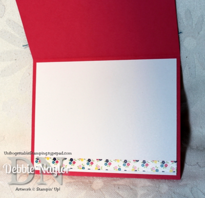 Unfrogettable Stamping | washi banner card inside 2013-09-27