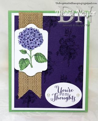 Unfrogettable Stamping | Fabulous Friday Best of Flowers Eggplant combo card 2013-10-11