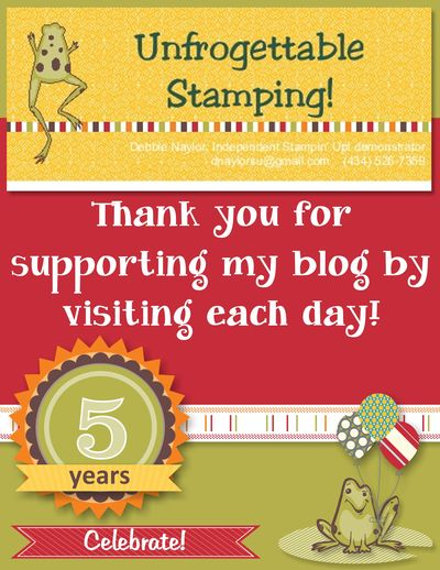 Unfrogettable Stamping | 5th blog-a-versary