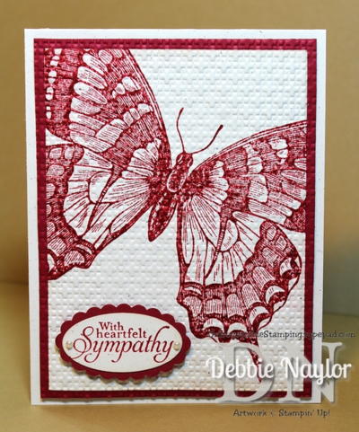 Unfrogettable Stamping | Swallowtail sympathy card 2013-10-13