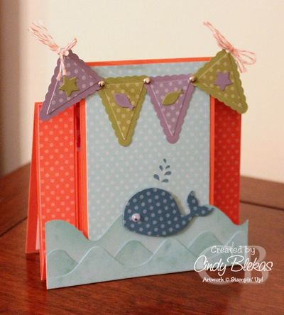 Unfrogettable Stamping | Cindy Blekas center-step card 2013-10-15