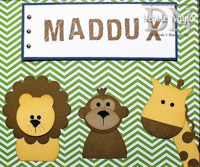Unfrogettable Stamping | Fabulous Name Frame punch art 2013-10-25