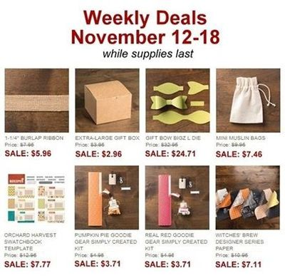 Unfrogettable Stamping | Weekly Deals 11-12 to 11-18