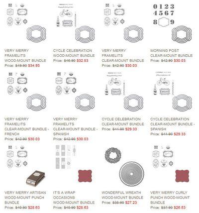 Holiday Sale bundles sampling