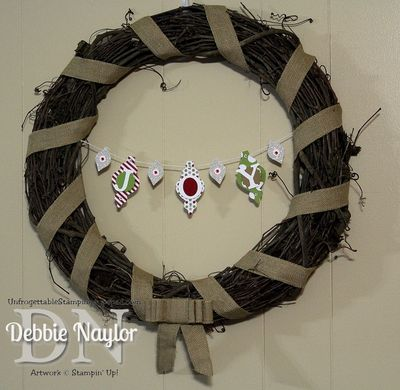 Unfrogettable Stamping | Fabulous Friday wreath 2013-11-22