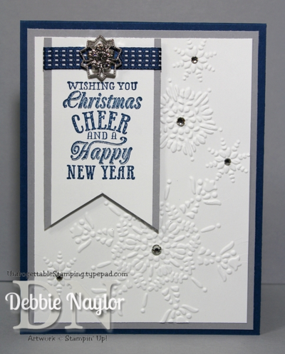 Unfrogettble Stamping | Fabulous Friday Snowflake card