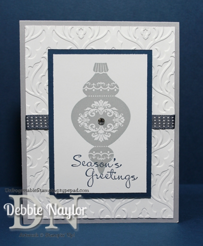 Unfrogettable Stamping | Week 10 Ornament Keepsakes QE card 2013-12-10