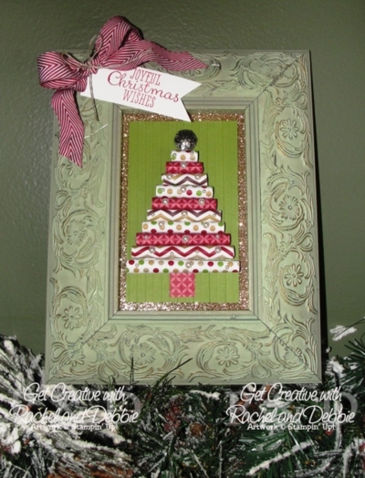 Unfrogettable Stamping | 2013  Week 10 framed Christmas art tutorial