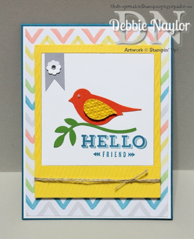 Unfrogettable Stamping | Peachy Keen Fabulous Friday card 2014-01-10