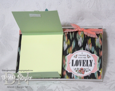 Unfrogettable Stamping | Sweet Sorbet Fabulous Friday sticky notes holder 2014-01-24