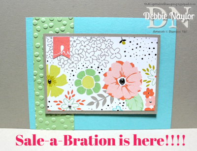 Unfrogettable Stamping | Sweet Sorbet Sale-a-Bration card 2014-01-28