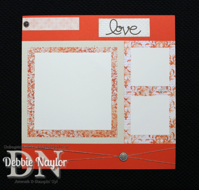 "Unfrogettable Stamping | Fabulous Friday Venetian Romance ""Love"" scrapbook layout 2014-02-07"