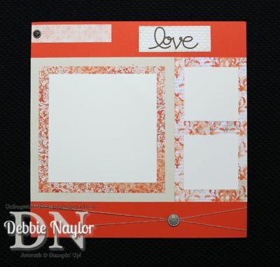 "Unfrogettable Stamping | Fabulous Friday Venetian Romance ""Love"" scrapbook layout 2014-02-07"