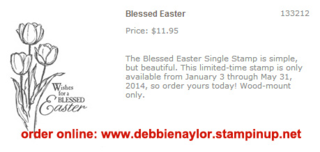 Unfrogettable Stamping   Stampin' Up! Blessed Easter stamp set