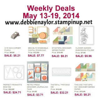 Unfrogettable Stamping   Stampin' Up! Weekly Deals for May 13-19, 2014