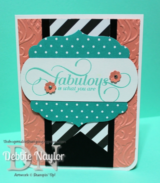 Unfrogettable Stamping | Million & One fabulous card