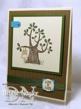Unfrogettable Stamping | Hang in there card featuring Nuts About You hostess set