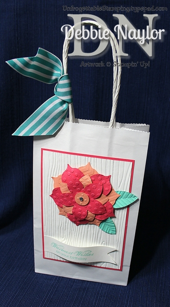 Unfrogettable Stamping Fabulous Friday Wish Big Flower Frenzy gift bag