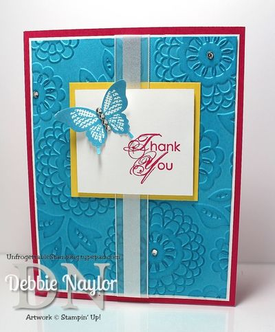 Unfrogettable Stamping Fabulous Friday color combo card