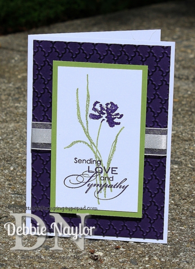 Unfrogettable Stamping | Quick & Easy elegant iris sympathy card 2014-07-01