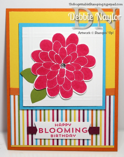 Unfrogettable Stamping   Stampin' Up! Flower Patch birthday swap card
