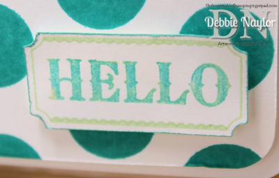Unfrogettable Stamping | Quick & Easy Label Something Ombre card