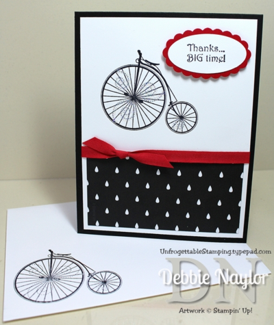 Unfrogettable Stamping | Quick & Easy Timeless Talk thank you card 2014-07-17