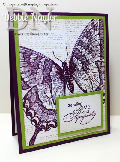 Unfrogettable Stamping | Swallowtail sympathy card option 1