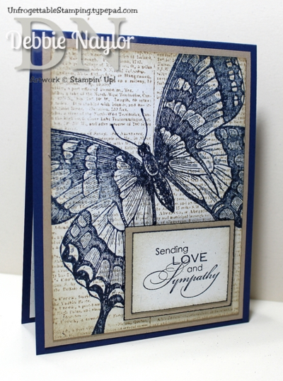 Unfrogettable Stamping | Swallowtail sympathy card option 2
