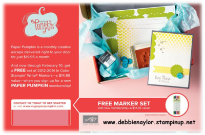 Unfrogettable Stamping | Join My Paper Pumpkin before Feb. 10, get a FREE marker set!