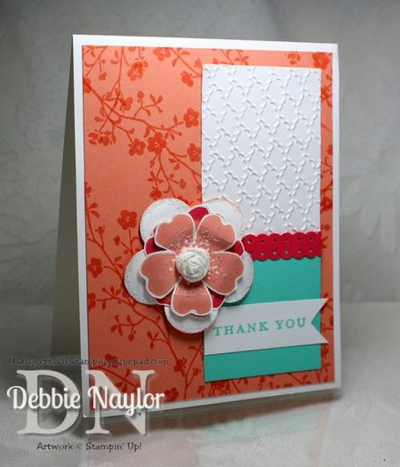 Unfrogettable Stamping | Simply Pressed Clay flower card