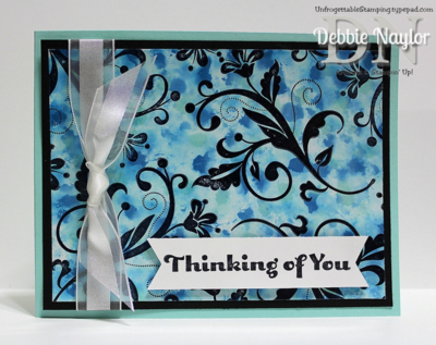 Unfrogettable Stamping | Fabulous Friday Reinker Background technique 2014-02-28