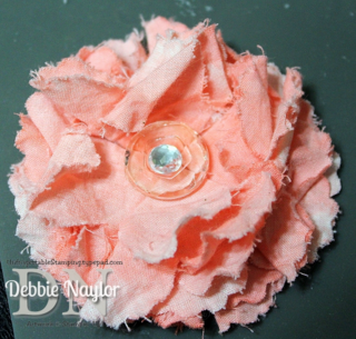 Unfrogettable Stamping   Pinterest-inspired Fabulous Friday fabric flower flip flops 2014-03-21