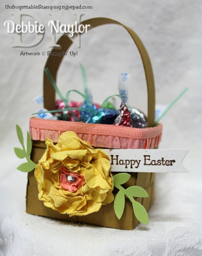 Unfrogettable Stamping | Fabulous Friday Easter Basket treat holder 2014-04-18
