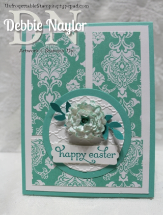 Unfrogettable Stamping | Monochromatic Easter card 04-20-2014