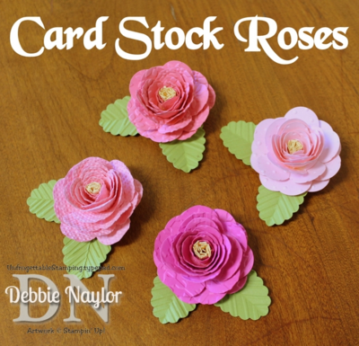 Unfrogettable Stamping | Card Stock Roses