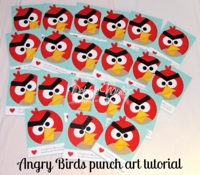 Unfrogettable Stamping | Angry Bird punch art tutorial 2012-01-20