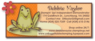 Unfrogettable Stamping   contact me