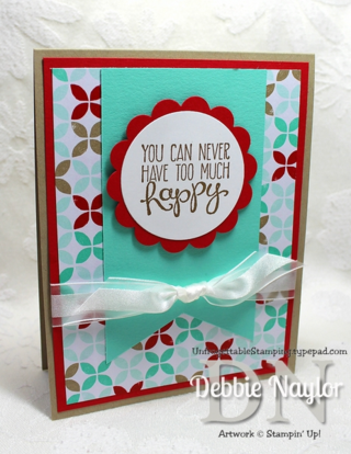 Unfrogettable Stamping | Quick and Easy Yippee-Skippee Happy card