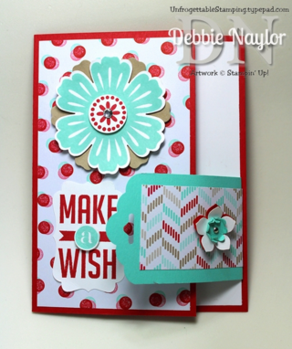 Unfrogettable Stamping | Fresh Prints buckle card featuring Perfect Pennants and Mixed Bunch stamp sets