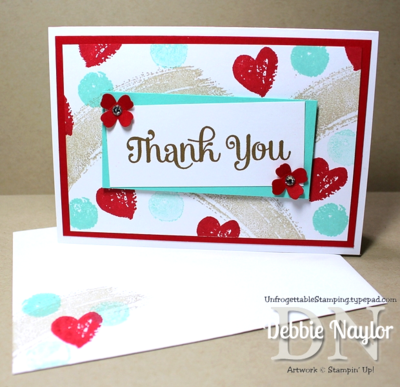 Unfrogettable Stamping | Quick & Easy Work of Art thank you card 2014-06-03