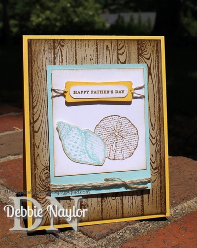 Unfrogettable Stamping | By The Seashore Fabulous Friday Father's Day card 2014-06-06