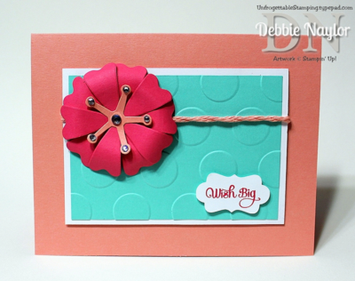 Unfrogettable Stamping | Quick & Easy Wish Big flower frenzy card, week of 2014-06-09