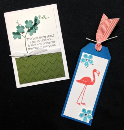 Unfrogettable Stamping | New Catalog Open House Make-n-Takes featuring new In Colors and Flamingo Lingo