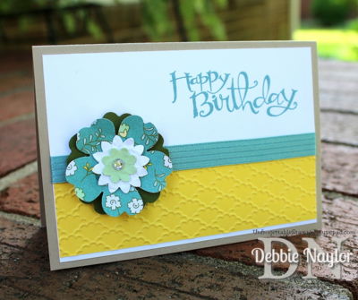 Unfrogettable Stamping | All Abloom pansy birthday card