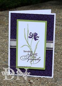 QE Elegant Iris Sympathy card