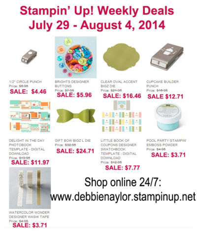 Unfrogettable Stamping | Weekly Deals July 29-Aug 4